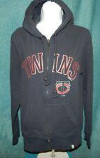 '47 Brand MINNESOTA TWINS Navy Stretch Cotton Hoodie Sweatshirt Women's Medium