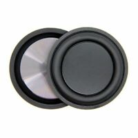2PCS Rubber Metal Low Frequency Passive Bass Radiator Speaker Diaphragm Q