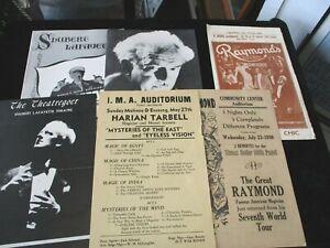 RARE Tarbell,Blackstone & Raymond Magic Show Programs