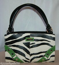 Miche Classic Purse SHELL ONLY Fits the Classic Bag ZOE GREEN B/W Zebra Print
