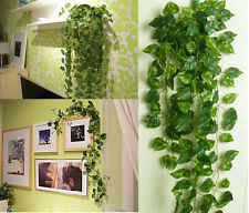 7.8ft Artificial Green Ivy Garland Plastic Plant Vine Foliage Family Party Decor