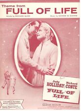"""THEME FROM """"FULL OF LIFE"""" SHEET MUSIC-1957-NEW-MINT-JUDY HOLLIDAY/RICHARD CONTE!"""