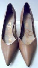 leather + patent Orella courts heels nude tan taupe Sam Edelman 5.5 - 6