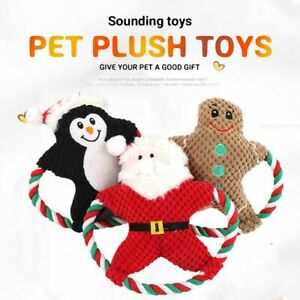 Interactive Sound Squeaky Soft Bite Toys Squeaker Chew Toy Christmas Dog Toys