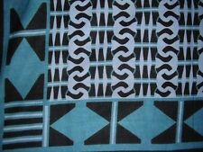 Handmade Cotton Endless Geometric Tapestry Tablecloth Coverlet Spread Teal Twin