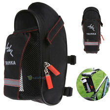 Bicycle Saddle Bag with Water Bottle Pocket MTB Bike Rear Seat Tail Bags Pouch