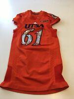 Game Worn Used Texas San Antonio Roadrunners UTSA XL Football Jersey Adidas #61