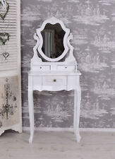 Vintage Make-Up Table White Dressing Table Toilets Shabby Chic Vanity Cupboard