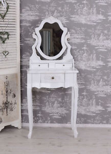 Vintage Make-Up White Dressing Table Toilets Shabby Chic Vanity Cupboard