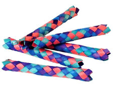 12 COLORFUL CHINESE FINGER TRAPS Party Favor Bird Parrot Toy craft gift bag