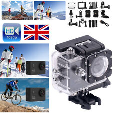 Bike Motor Cycle Action Helmet Sports Camera DV Cam HD 1080P For Gopro UK BLACK