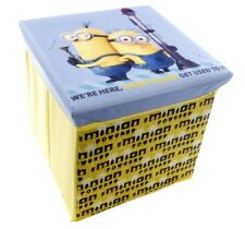 OFFICIAL NEW DESPICABLE ME MINION STORAGE BOX TOY BOX CHILDRENS BEDROOM OTTOMAN