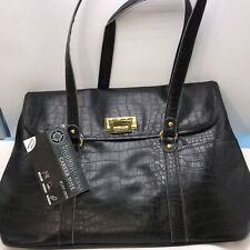 FRANKLIN COVEY LadiesTurnlock Pocket Laptop Business Tote Bag Purse tags