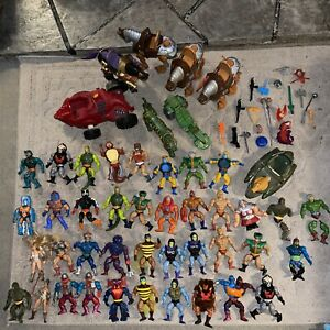 Masters of the Universe figures and accessories 1980's Lot of 60+ piecesHe-Man
