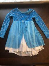 Girls Mondor 4-6 Blue Figure Skating Dress