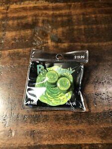 Rick and Morty portal 8MM acrylic gauges earrings Studs