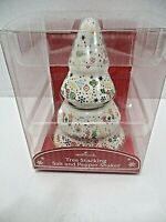 Hallmark Christmas Tree Stacking Salt and Pepper set in Box