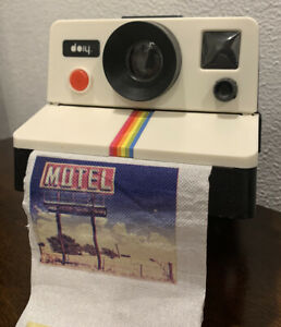 Polaroll Toilet Paper Holder With Photo Toilet Paper