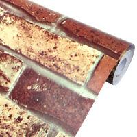 braun von Alpha-Tex 9,95/€//m/² PVC in Vintage-Optik L/änge: 100 cm, Breite: 300cm