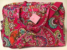 Vera Bradley WEEKENDER PINK SWIRLS Travel Bag Tote Overnight Duffel Large NWT