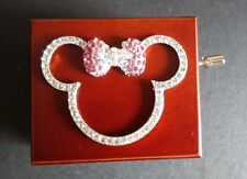 RED WOOD MINNIE MOUSE HAND CRANK MIRROR MUSIC BOX : YOU ARE MY SUNSHINE