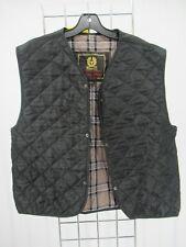 I8780 VTG Belstaff Men's Plaid Lining Quilted Waistcoat Size M