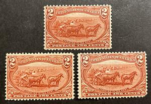 TDStamps: US Stamps Scott#286 (3) Mint NH OG