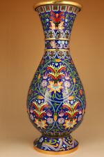 40cm hight enamels cloisonne gilding royal valuable big buddha flower vase