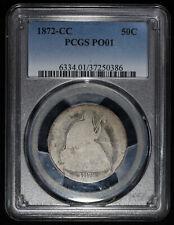 1872 CC Seated Liberty Half Dollar PCGS PO 01 Poor 1 P1