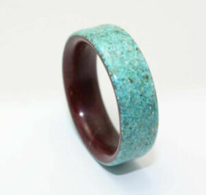 Ring For Men Women Wedding Band Ring Offset Turquoise Inlay Ring