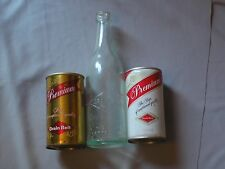 Grain Belt Beer, Clear Bottle 2 cans, pre and post G Heileman