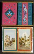 2 Vintage Double Decks of Playing Cards in Velvet Slider Box Congress & Whitman