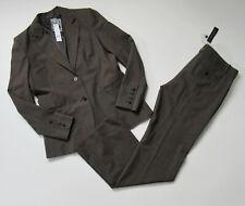 NWT Theory Rory & Max C in Brown Mackay Nailhead Wool Suit Blazer Pants 12 x 35
