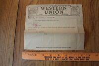 1914 Western Union Telegram Vintage Ephemera Milwaukee Wisconsin Death Notice