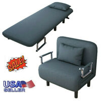 Convertible Sofa Bed Folding Arm Chair Sleeper Leisure Recliner Lounge Couch USA