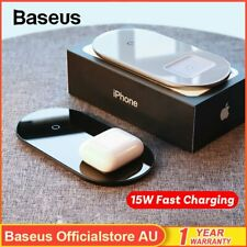 Baseus 15W Qi Wireless Charging Charger Pad for Airpods iPhone 11 XS Samsung S10