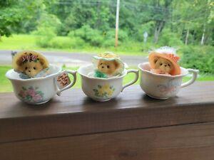 Cherished Teddies Tea Cups & Beanbag Bears 770515
