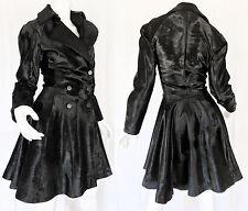 Alaia Black Fur Calfhair/Ponyskin Pleated Circle Skirt Trench Coat 38 $16,000