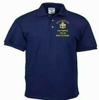 USS TRIPOLI  LPH-10  NAVY ANCHOR EMBROIDERED LIGHT WEIGHT POLO SHIRT