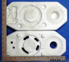 ACC to Mold No 1369 Hat, Cat & Wreath Scioto No 1371 Mold Ceramic Mold Molds