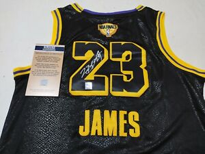 Lakers Autographed #23 Final Version Black Jersey + COA