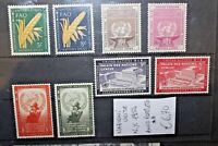 "NAZIONI UNITE - NEW YORK 1954 ""ANNATA COMPLETA - FULL YEAR"" NUOVI MNH** (CAT.J)"