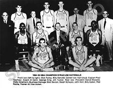 1954-55 SYRACUSE NATIONALS NBA CHAMPIONS 8X10 TEAM PHOTO