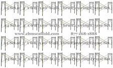 "24 Set of 3' X 6'8"" X 10' Plastering Masonry Scaffold Frame Set CB Mcaffold"