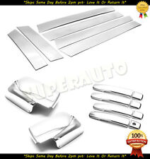 FOR 2008-2013 Nissan Rogue Combo Chrome Mirrors+Door Pillar Trims+Handle Covers