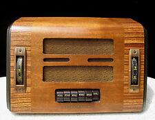 GENERAL ELECTRIC SUPERHETERODYNE TUBE RADIO PUSH BUTTON WHEEL CONTROL circa 1938