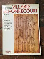 Notizblock De Honnecourt Villard [Architekt] XIII Siècle Lager 1986