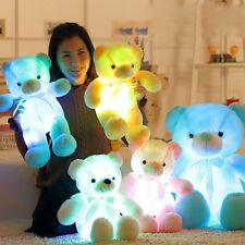Lovely LED Light Plush Stuffed Teddy Bear Soft Doll Baby Kids Birthday Gift 30CM