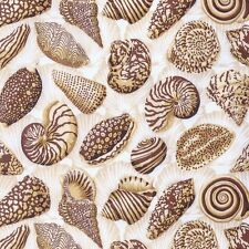 Seashells Cotton Quilt Fabric Quilting Sewing BTY  Free Spirit Snow Leopard