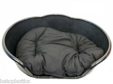 SMALL Plastic BLACK Pet Bed With BLACK Cushion Dog Cat Sleep Basket, puppy